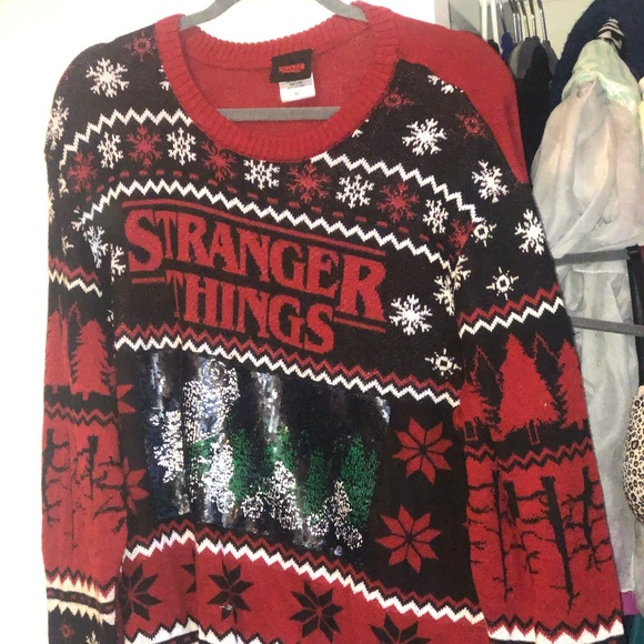 Stranger Things Christmas Sweater.Stranger Things Ugly Christmas Sweater
